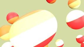 Жидкостная петля плавая шариков, желтая предпосылка акции видеоматериалы