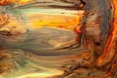 Жидкостная текстура краски с уникальной желтой картиной бесплатная иллюстрация
