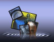 жидкостная технология Стоковые Фото