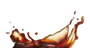 Жидкостный выплеск на белой предпосылке стоковое изображение