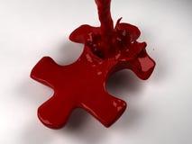 жидкостный красный цвет головоломки Стоковое Изображение