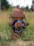 жидкостный огнетушитель вне обслуживает Стоковое Фото