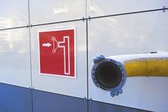Жидкостный огнетушитель на стене Стоковая Фотография RF