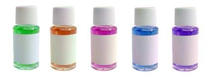 жидкость бутылки немногая стоковое изображение rf