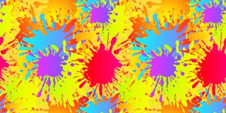 Жидкость вектора формирует безшовную картину, Splatters краски, шаблон предпосылки иллюстрация вектора