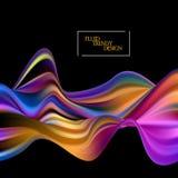 Жидкость волны Абстрактная предпосылка с жидкими формами Ультрамодная иллюстрация EPS10 вектора для вашего дизайна иллюстрация вектора