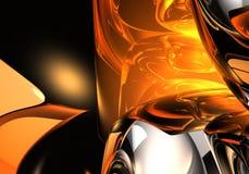 жидкость золота 01 Стоковые Изображения