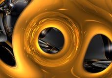 жидкость золота 02 Стоковые Изображения RF