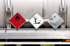 жидкость контейнера покрывает предупреждение Стоковые Изображения RF