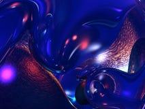 жидкость стекла бронзы abstrac 3d Стоковое Изображение