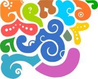 жидкость backgroun цветастая Стоковое Изображение RF