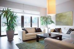Жизненное пространство внутри дома стоковое изображение rf