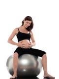 жизнерадостная беременная женщина стоковая фотография