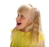 Жизнерадостная блондинка девушки Стоковое Фото