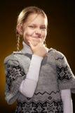 жизнерадостная девушка немногая стоковое фото rf