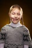 жизнерадостная девушка немногая стоковая фотография