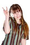 жизнерадостная девушка подростковая стоковая фотография rf