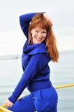 жизнерадостная девушка redheaded Стоковое Изображение