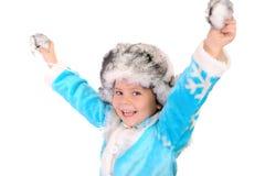 жизнерадостная зима белизны девушки одежд Стоковое Изображение RF