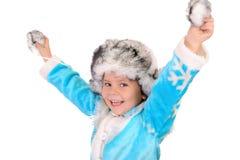 жизнерадостная зима девушки одежд Стоковые Фотографии RF