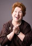 жизнерадостная пожилая женщина Стоковая Фотография