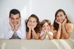 жизнерадостная семья Стоковая Фотография RF