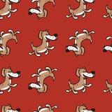 Жизнерадостная собака скача с счастьем, текстурой на теме ` s детей иллюстрация штока