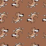 Жизнерадостная собака скача с счастьем, текстурой на теме ` s детей Стоковое Фото