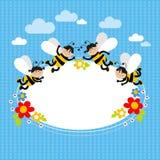 Жизнерадостные пчелы иллюстрация штока