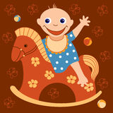 жизнерадостный малыш Стоковое Изображение