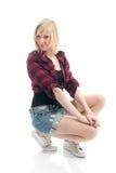 жизнерадостный представлять девушки подростковый Стоковые Фотографии RF