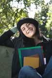 жизнерадостный студент стоковые фото