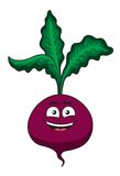 Жизнерадостный счастливый овощ бураков шаржа иллюстрация штока