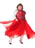 Жизнерадостный человек, ферзь сопротивления, в женском костюме Стоковое Изображение