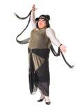 Жизнерадостный человек, ферзь сопротивления, в женском костюме Стоковые Фото