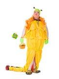 Жизнерадостный человек, ферзь сопротивления, в женском костюме Стоковые Изображения
