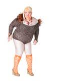 Жизнерадостный человек, ферзь сопротивления, в женском костюме Стоковые Изображения RF