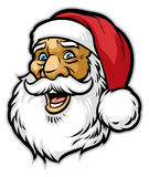 Жизнерадостная голова Санта Клауса иллюстрация вектора