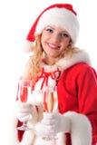 жизнерадостная девушка santa Стоковое Изображение RF