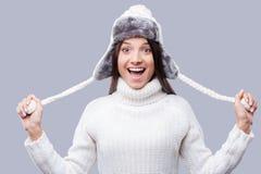 жизнерадостная зима девушки Стоковое Фото