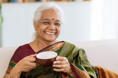 Жизнерадостная индийская дама Стоковая Фотография