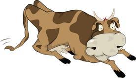 Жизнерадостная корова Стоковая Фотография
