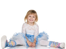 Жизнерадостная маленькая девочка стоковое фото rf