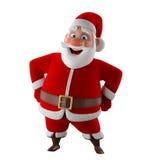 Жизнерадостная модель 3d Санта Клауса, значок счастливого рождеств, Стоковые Изображения