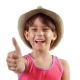 Жизнерадостная счастливая очаровательная девушка в шляпе Стоковые Изображения RF