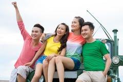 Жизнерадостное азиатское молодые люди Стоковая Фотография RF