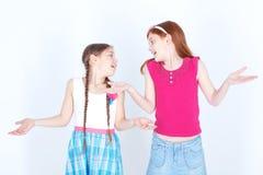 Жизнерадостные девушки играя совместно Стоковое Изображение RF
