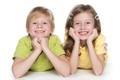 Жизнерадостные дети совместно Стоковая Фотография RF