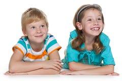 Жизнерадостные дети redhead совместно Стоковое фото RF