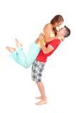 Жизнерадостные молодые пары Стоковая Фотография